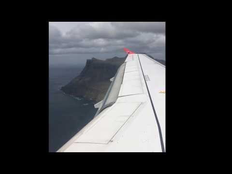 Atlantic airways landing in Faroe Islands