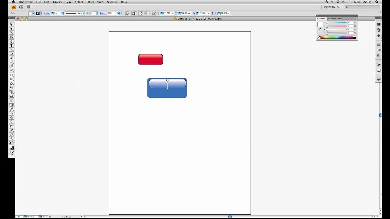 Creating Glossy Web 2.0 Buttons Using Adobe Illustrator