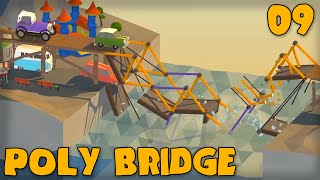 """80s Fun Land Update!!!"" Poly Bridge Gameplay Part 9 -  (bridge Building Game)"