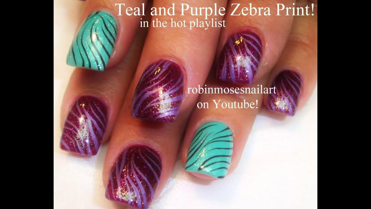 Easy zebra print nail art design tutorial youtube easy zebra print nail art design tutorial prinsesfo Image collections