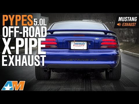 1979 1995 Mustang 5 0l Pypes Off Road X Pipe Exhaust Sound Clip Install