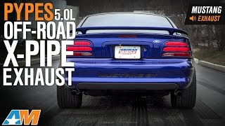 Video 1979-1995 Mustang 5.0L Pypes Off-Road X-Pipe Exhaust Sound Clip & Install download MP3, 3GP, MP4, WEBM, AVI, FLV Juli 2018