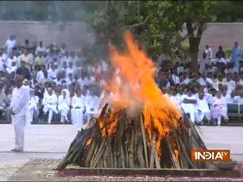 Former PM Atal Bihari Vajpayee cremated with full state honours at Smriti Sthal in Delhi