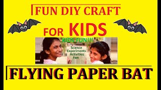 Flying paper bat | Kids activity | Safe outdoor fun | DYI | Slow motion flight capture