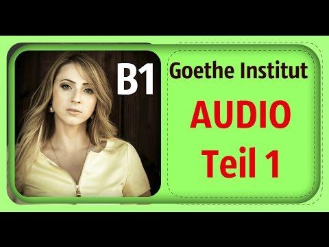 Goethe Zertifikat B1 Hören Teil 1 Youtube