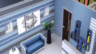 Contruction d'une maison ModernHouse sims 3 (suite)