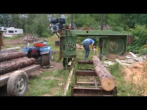 Our Homemade Bandsaw Sawmill Sure Cuts Lumber
