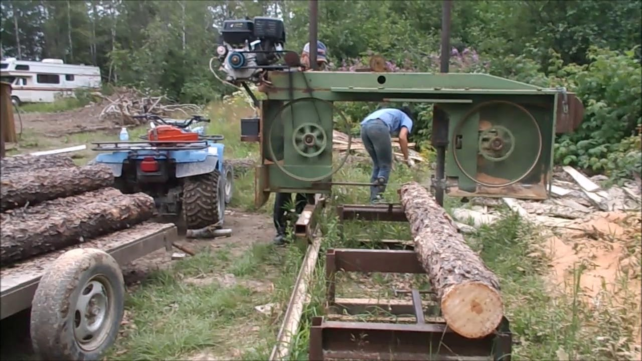 Our Homemade Bandsaw Sawmill Sure Cuts Lumber Youtube