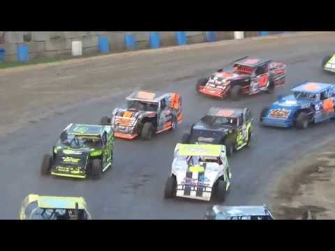 I.M.C.A. Modifieds 50 Lap Feature at Crystal Motor Speedway, Michigan on 09-16-2018!