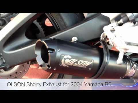 2004 Yamaha R6 Stock Exhaust vs Olson Shorty Exhaust