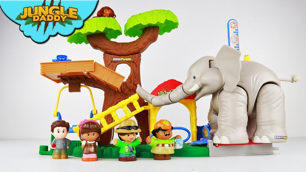 Big Animal Zoo Elephant Fisher Price Little People Animal Toys For Toddlers Children Safari Tree Youtube