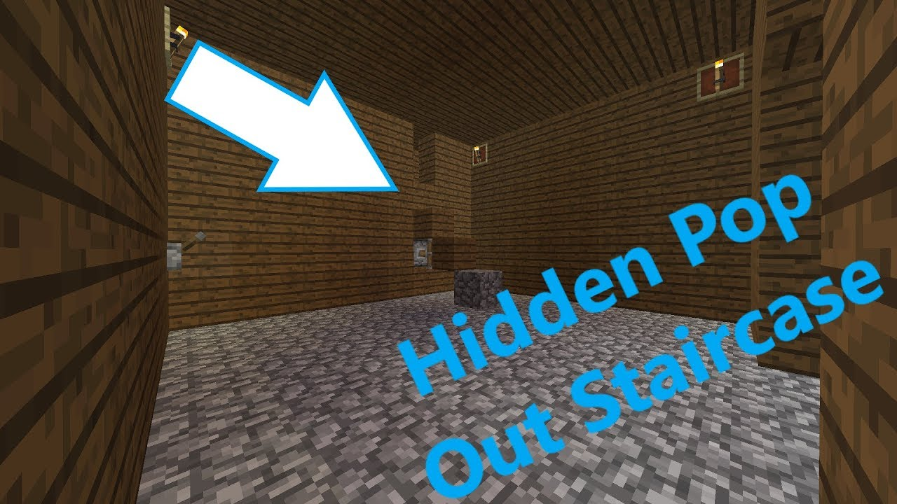 how to make a hidden spiral staircase in minecraft