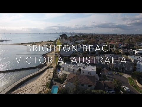 Our World by Drone in 4K - Brighton Beach, Victoria, Australia