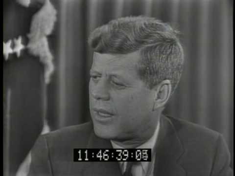 Eleanor Roosevelt interviews JFK