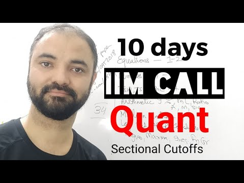 Get IIM Call in 10 days. Quant Section. 10 topics 10 days plan.