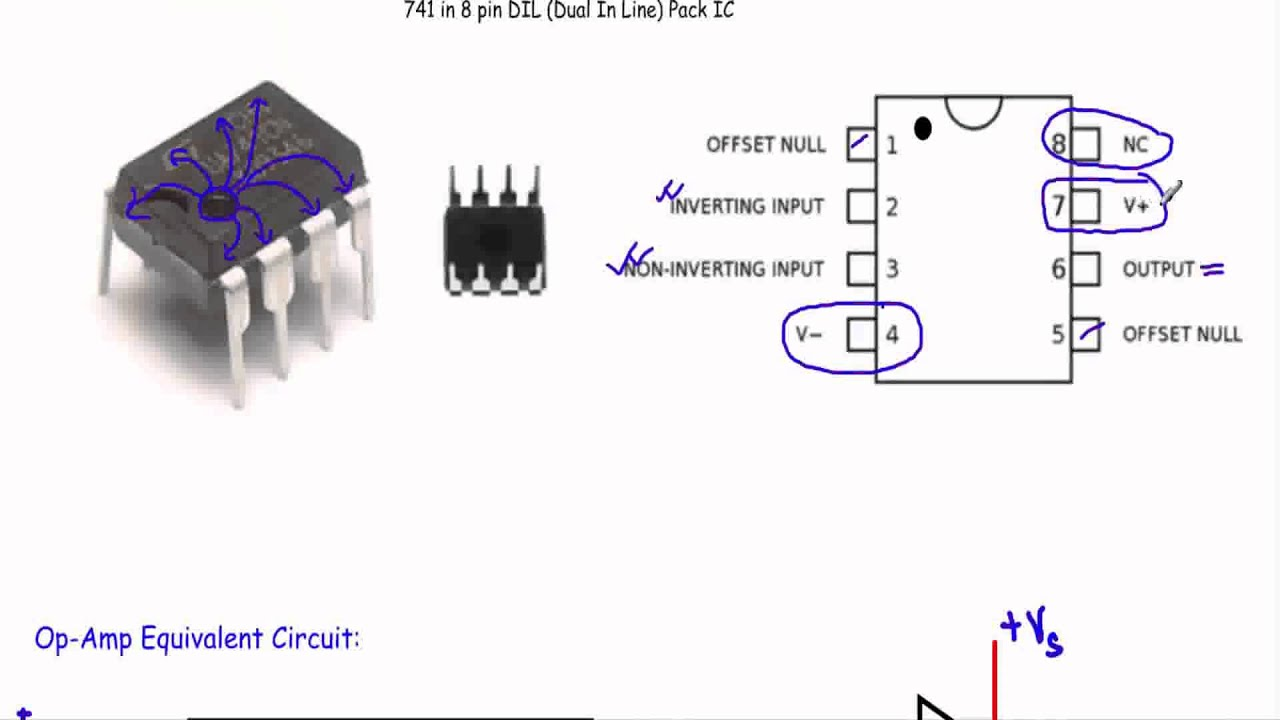 Introduction to LM741 IC and OpAmp equivalent Circuit  YouTube