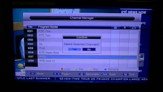 Triax TR212 & TR212S Saorview Box - Sort & Delete Channels