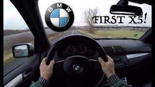BMW X5 3.0d (2006) POV Test Drive + Acceleration 0-200 km/h