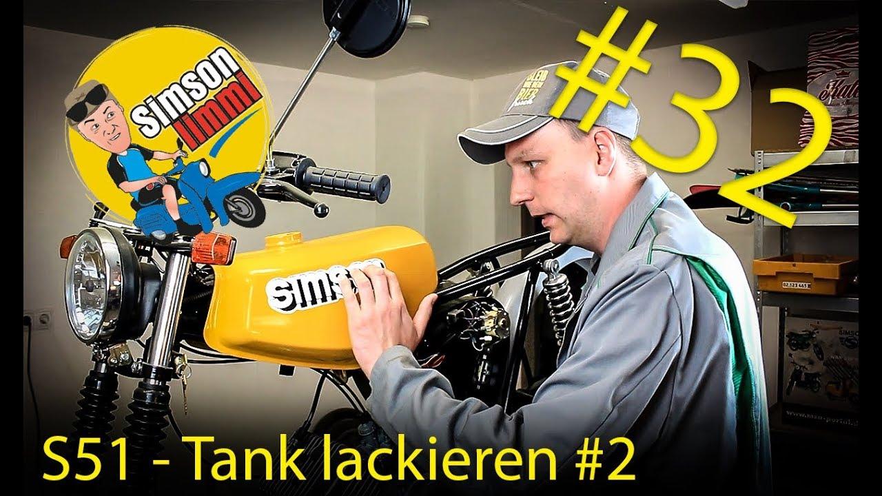 Simson S51 Neuaufbau Teil 32 Tank Lackieren 2