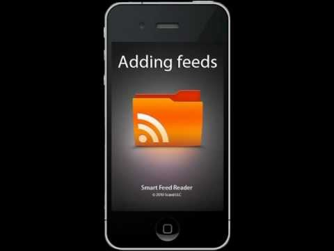 Adding feeds. Smart Feed Reader