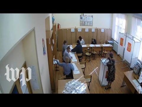 Watch: CCTV footage shows alleged ballot-stuffing in Russia elections