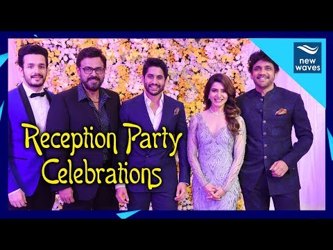 Tollywood Celebrities Hungama At Chay Sam Wedding Reception | New Waves