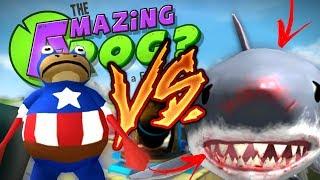SUPER SAPO ENFRENTA O TUBARÃO GIGANTE! | As Aventuras do Sapo Jorge Episódio 2 ( The Amazing Frog )