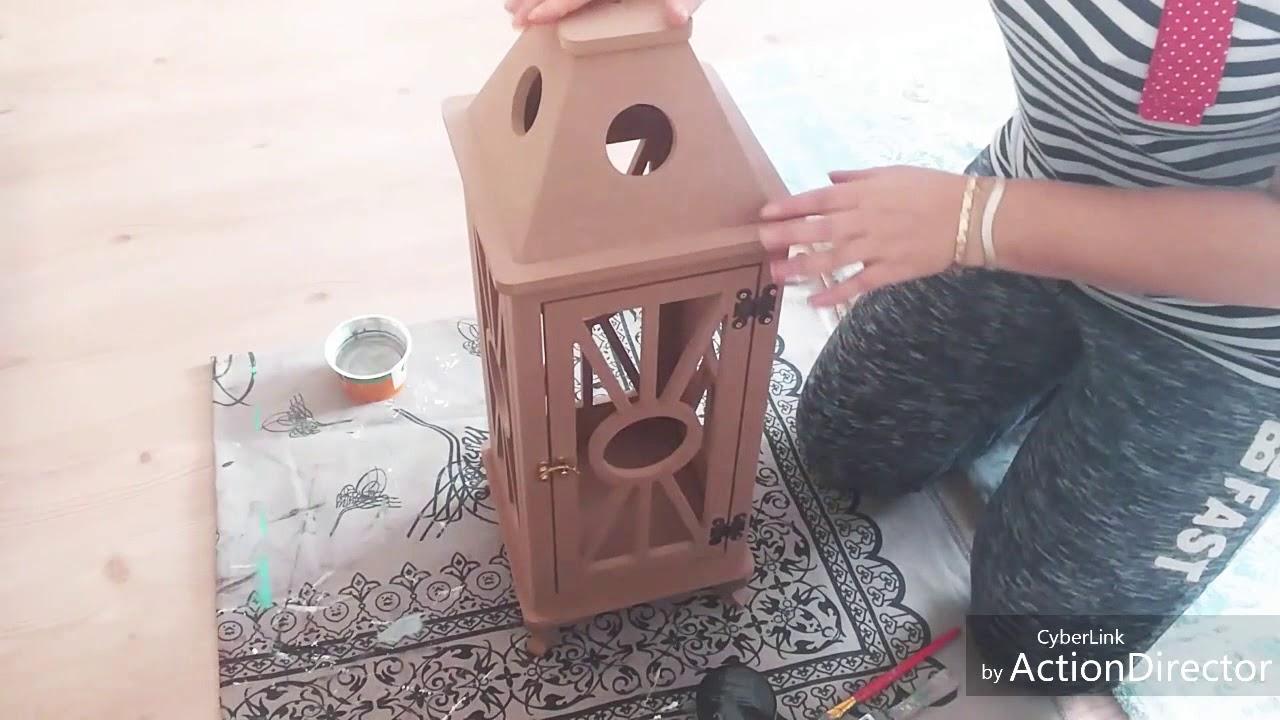 Ahşap Fener Boyama Ve Eskitme Uygulaması Diy Youtube