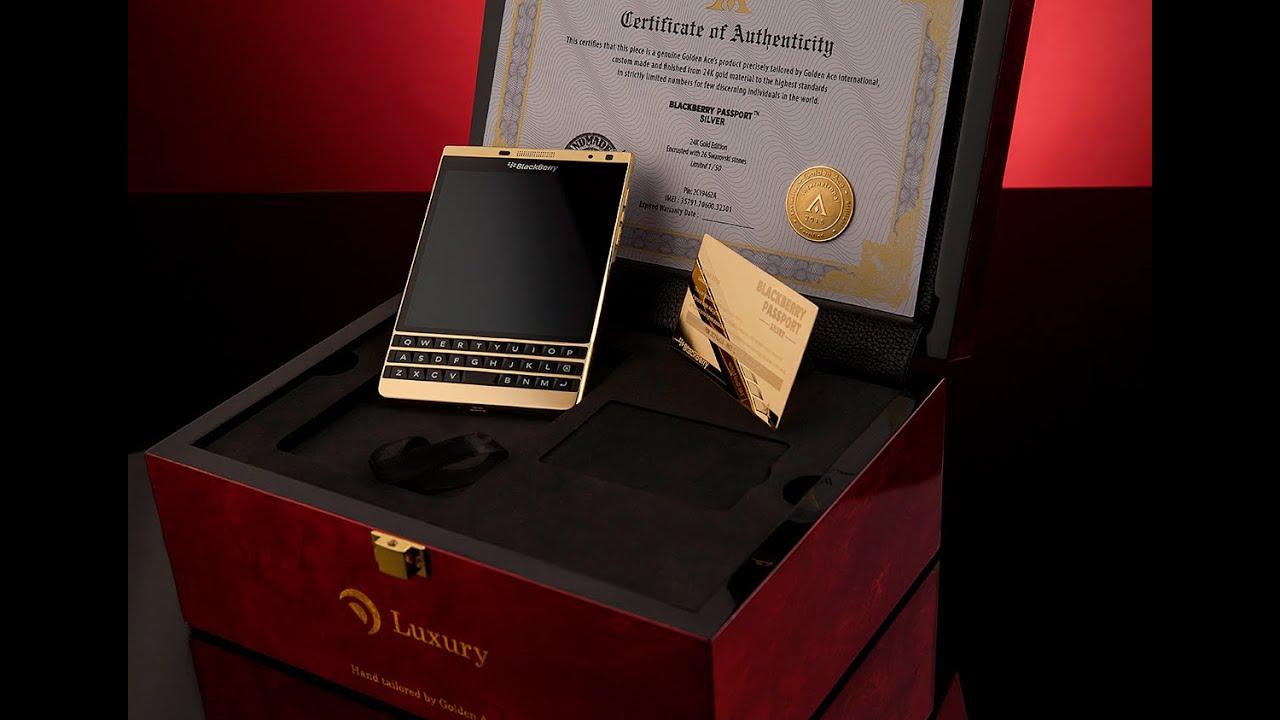 BlackBerry Passport Silver 24K Gold Edition - Golden Ace ...