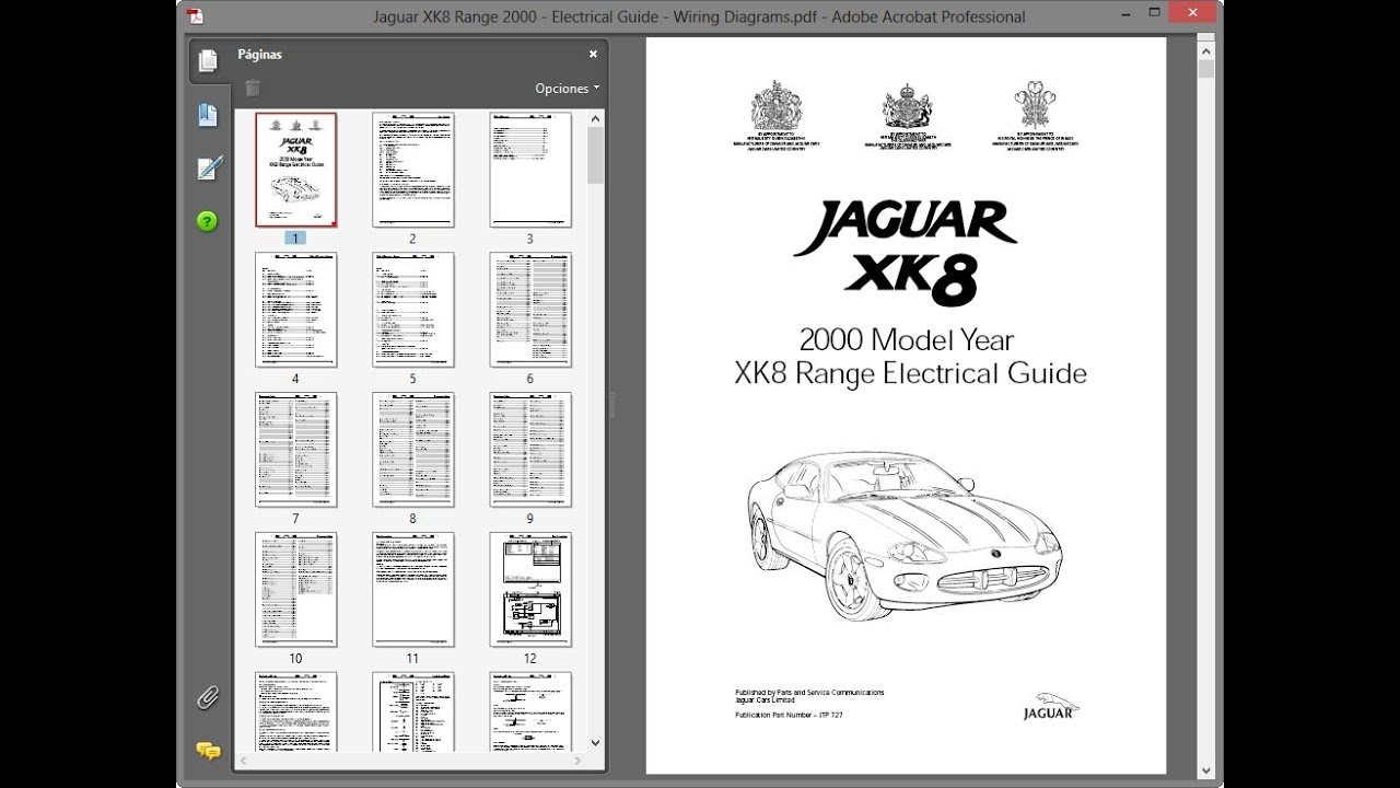 jaguar xk8 range 2000 - electrical guide - wiring diagrams - youtube  youtube