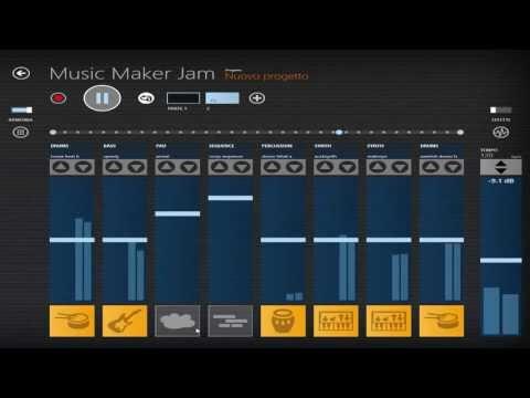 come usare Music Maker Jam (ita) per windows 8