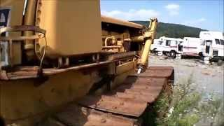 heavy equipment in the junkyard