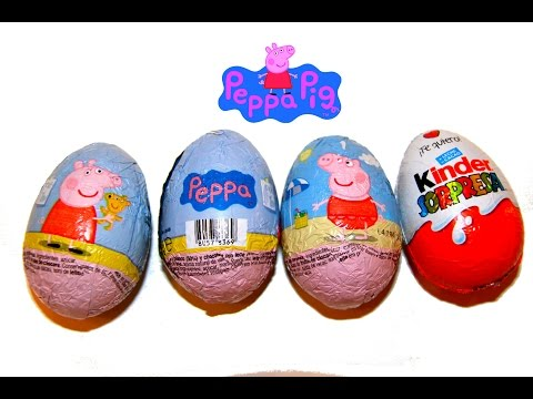 Peppa Pig: 3 huevos sorpresa y un huevo Kinder de regalo