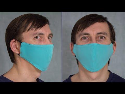 Маска для лица своими руками многоразовая Мастер Класс / Как сшить маску в домашних условиях