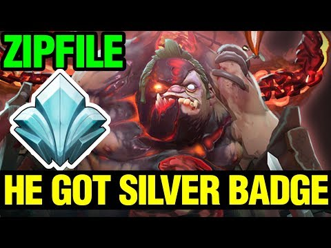 Zipfile Got The Silver Badge With Pudge Arcana - 7.12 - Dota 2