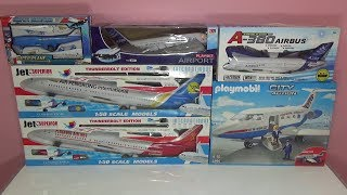 Unboxing 6 giant planes Playmobil  plane Airbus A380 Boeing 737 Jambo surprise toys gifts for kids