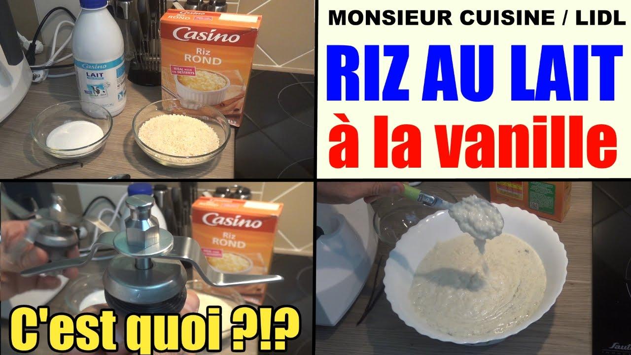 riz au lait à la vanille - recette monsieur cuisine lidl