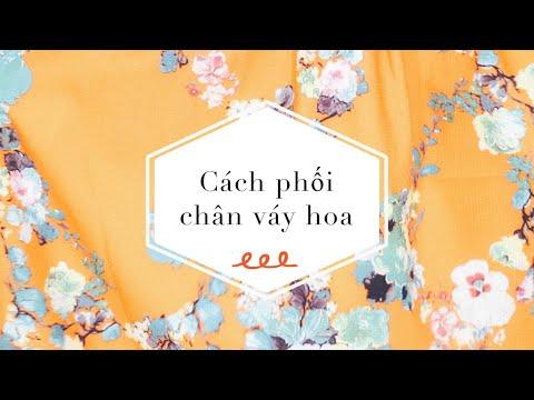 Cách phối chân váy hoa nhiều màu | gocDani