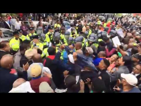 Tempers Flare At Protest At House, December 2 2016