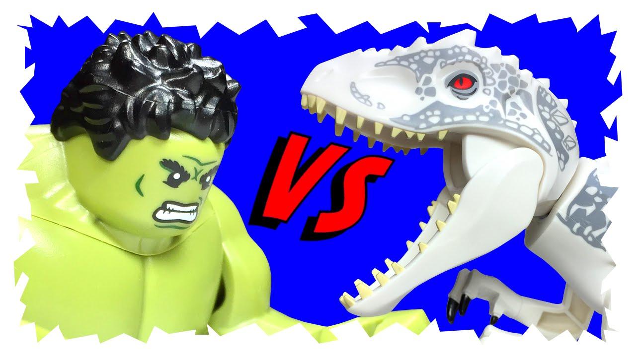 lego jurassic world indominus rex angers hulk youtube