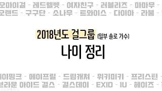 2018년 걸그룹u0026여솔로가수 나이 총정리