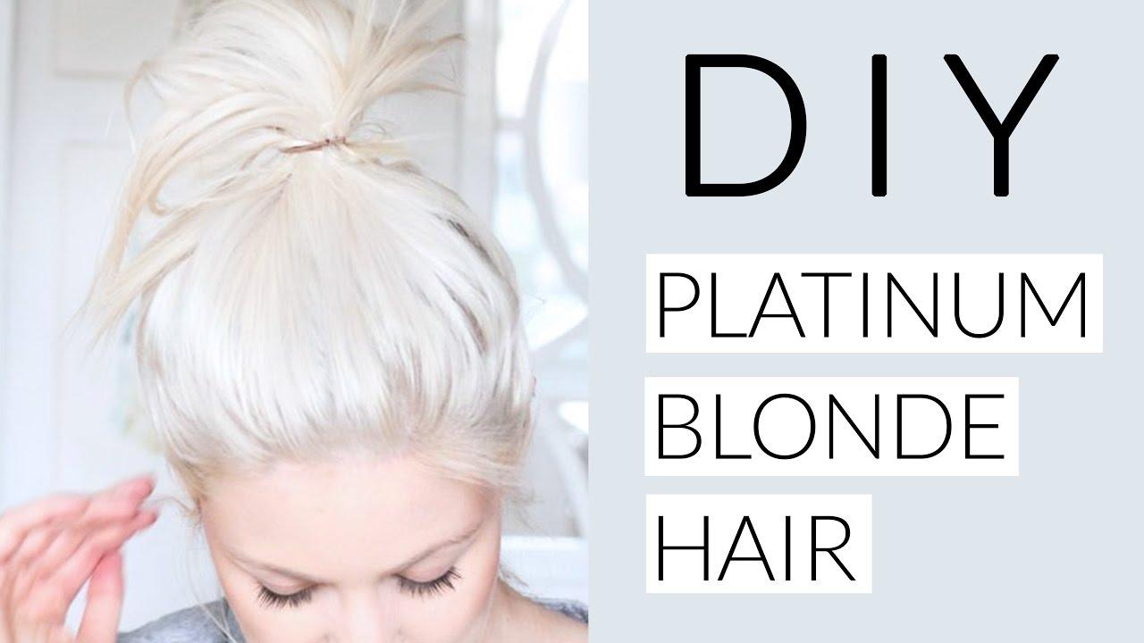 diy icy white platinum blonde hair