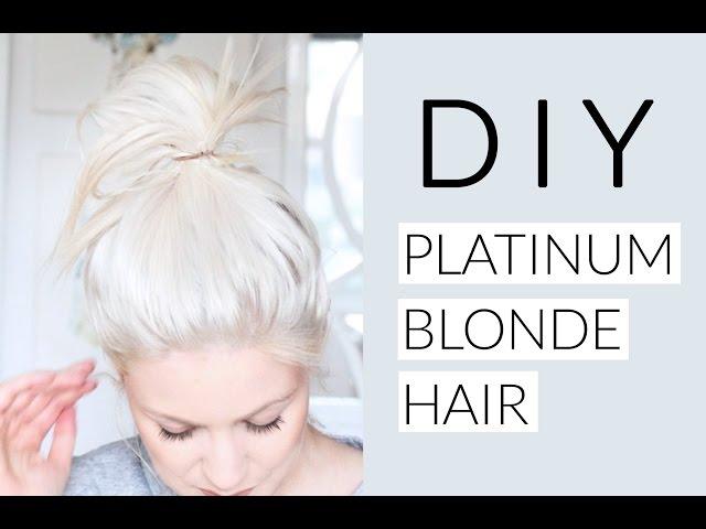 DIY Icy White Platinum Blonde Hair Tutorial