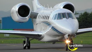 The Beautiful Cessna Citation 750 X N750GF - Landing/Taxi/Take off - Gloucestershire Airport