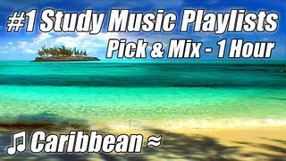 1 Hour of Relaxing Study Music mix w Nature Sounds Ocean Waves for Studying Playlist Relax Beach no