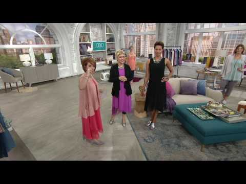 LOGO by Lori Goldstein Pique Knit Camisole with Lace at Hem on QVC