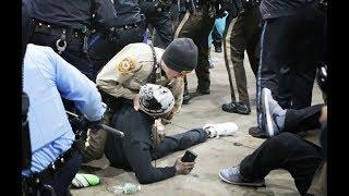 Still images from Bruce Franks arrest at protest