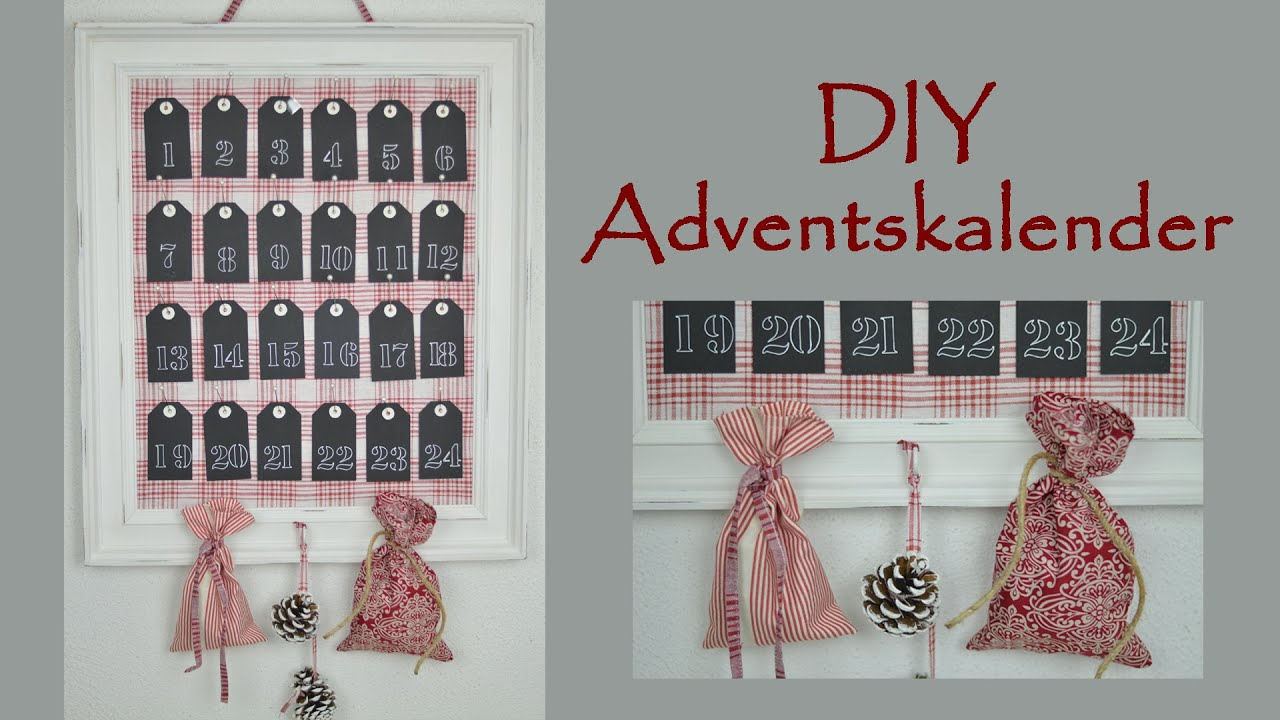 diy weihnachtsdeko last minute adventskalender i pinnwand im shabby stil i geschenkidee i. Black Bedroom Furniture Sets. Home Design Ideas