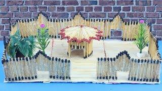 DIY Matchstick Art: How to Make a House from Match Stick [NO FIRE] - Matchstick Art and Craft
