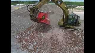 Video still for Screener Crusher Buckets -- Crushing Tiles/Bricks
